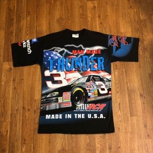 "VTG Dale Earnhardt ""Man Made Thunder"" Shirt,Size:M"